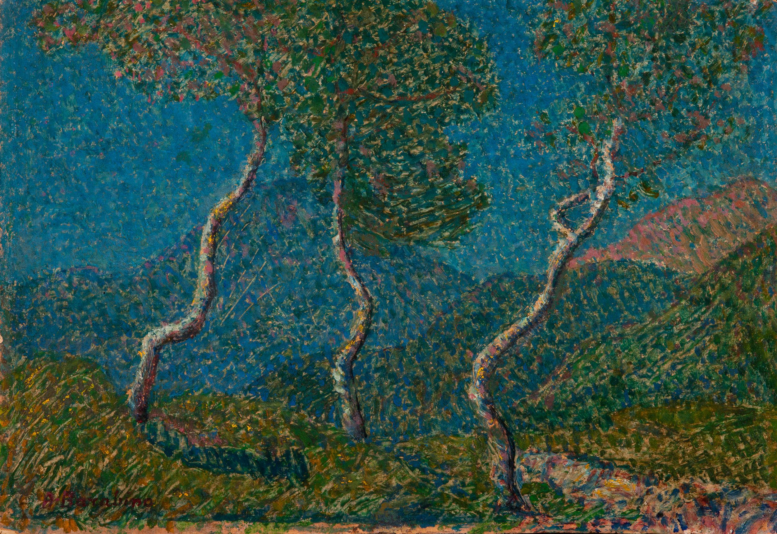 Paesaggio con tre alberi - Barabino