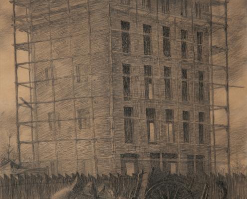 Casa in costruzione - Boccioni