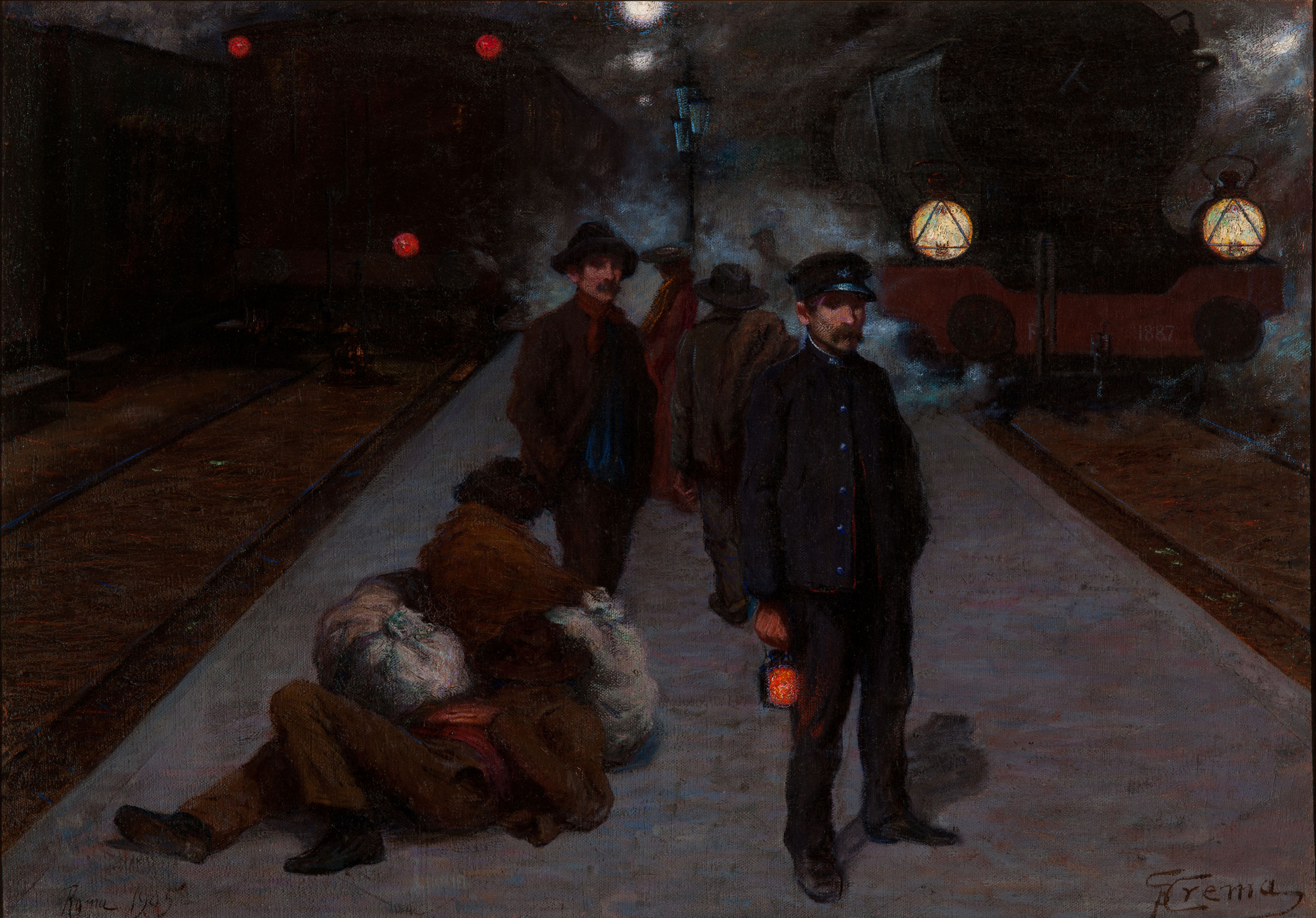Lavoro notturno alla stazione Termini - Crema