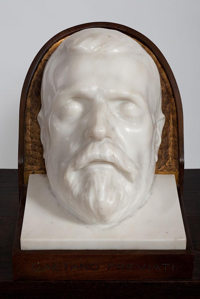 Maschera funebre di Gaetano Previati - minerbi