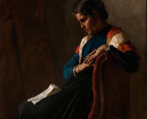 La donna dell'emigrato o La lettera dell'emigrante - Pellizza da Volpedo