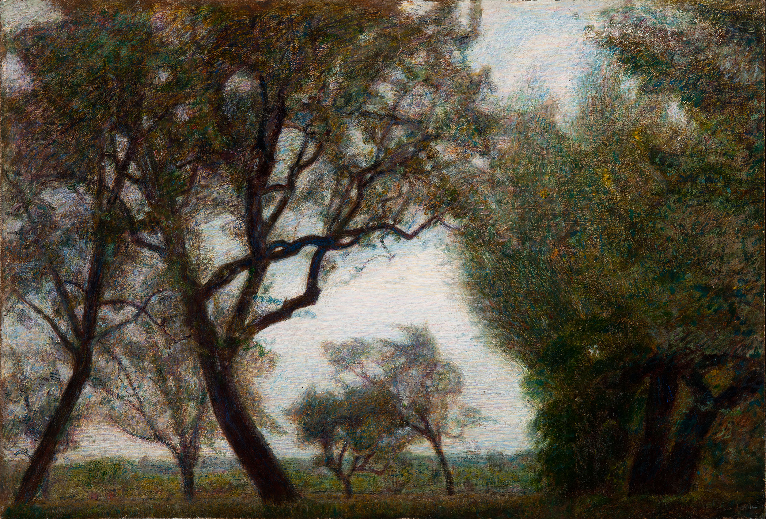 Mattino di maggio o Alberi e nubi - Pellizza da Volpedo