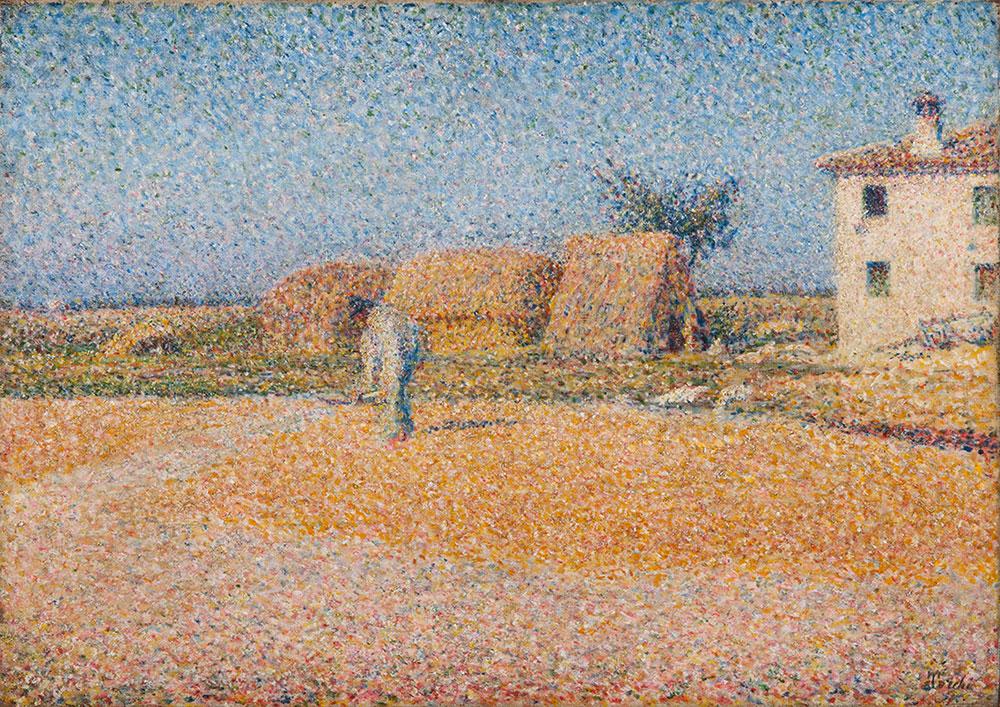 Grano al sole o Granturco sull'aia - Torchi
