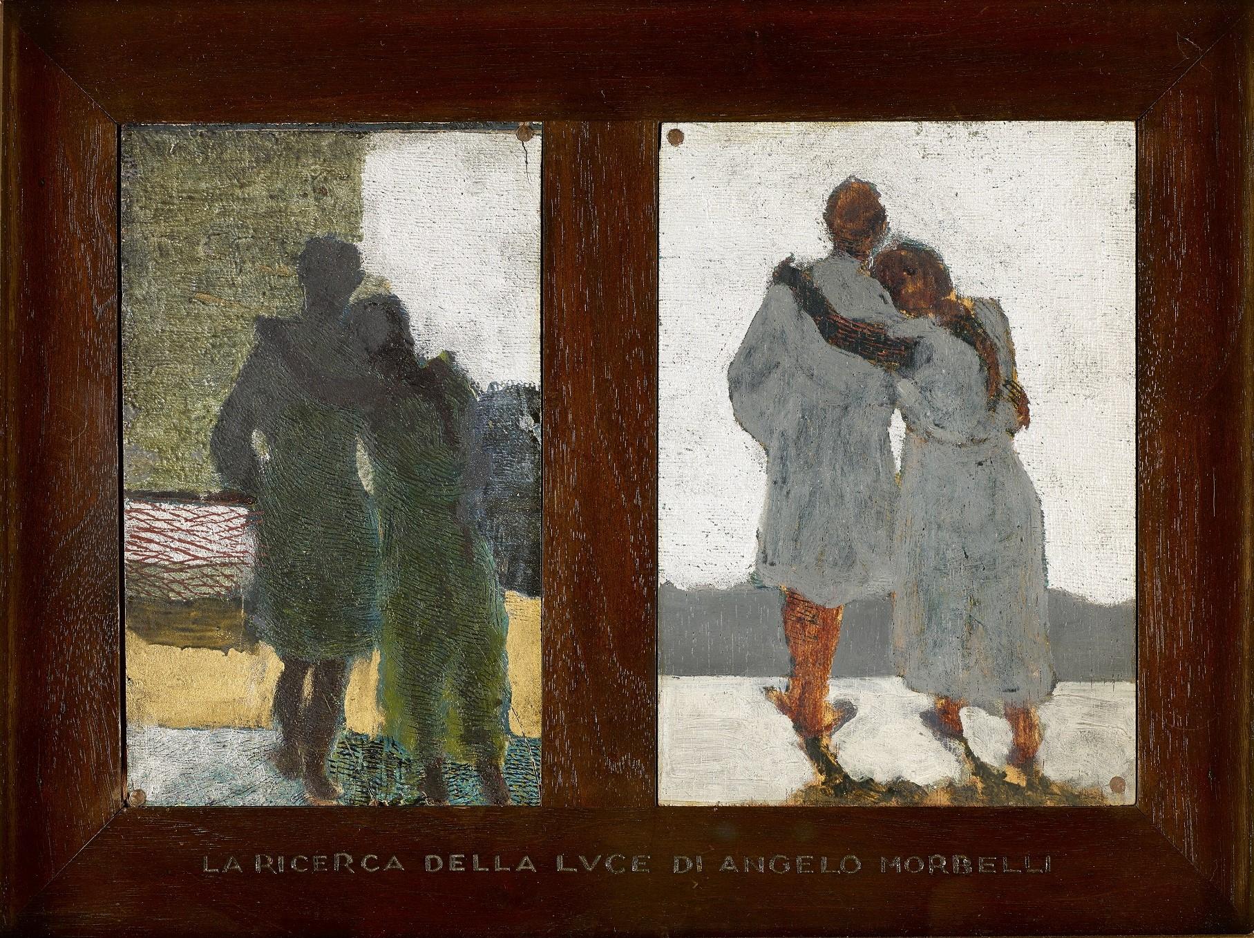 La ricerca della luce. Studio per immagine centrale trittico Sogno e realtà - Angelo Morbelli
