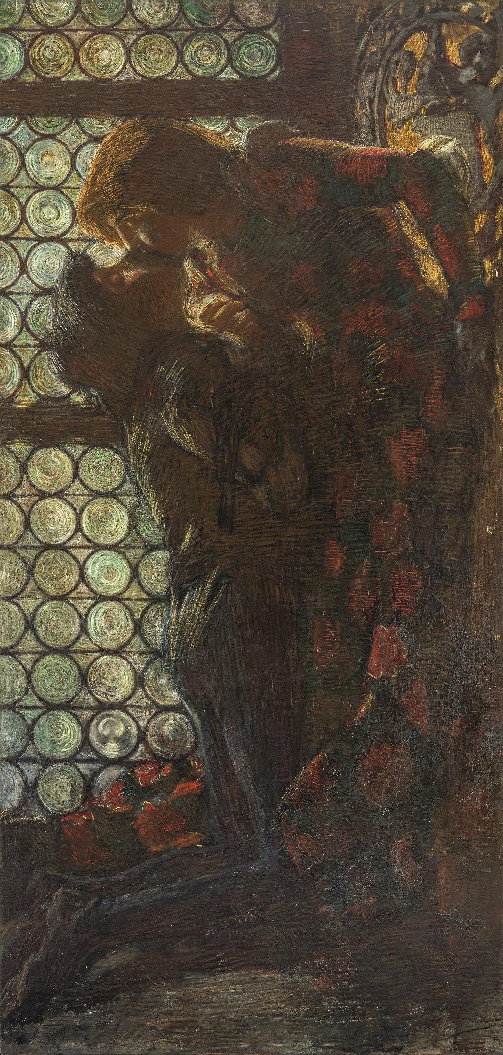 Penombre o Giulietta e Romeo o Il bacio - Gaetano Previati